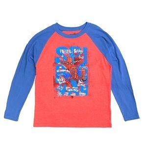 NWT Boys Marvel Spider Man Long Sleeve Top L